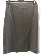 Warehouse Ladies Grey A Line Formal Suit Skirt. Knee Length. Size 16.