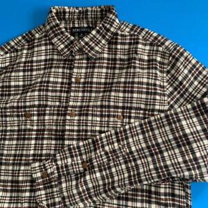 J. CREW Men's LS Medium Casual Classic Heather Flannel Plaid Shirt NEW $59