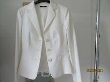 Boss white cotton mix lined jacket, size 8
