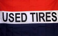 Used Tires Flag 3' X 5' Indoor Outdoor Multi-Color Banner