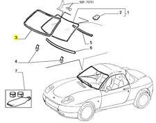Fiat Barchetta font Outer Vent Screen Rubber Seal 47300296 NEW & GENUINE FIAT