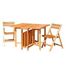 Set California Dining Da Pranzo Tavolo 4 Sedie In Legno Per Esterno M0716