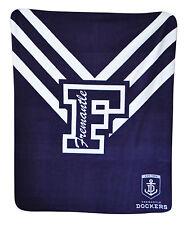 *NEW LARGE Licensed AFL Fremantle Dockers Freo Polar Fleece Throw Blanket Gift