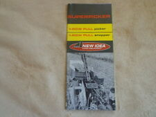 1966 Avco New Idea Superpicker Picker Snapper Tractor Sales Brochure Advertise