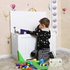 Large Volume Kid Toy Storage Bench Shoe Bench Box Bed Stool 76x40x48 cm LHS11WT
