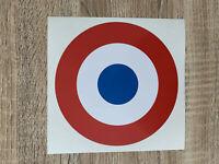 Cocarde sticker autocollant tricolore diam 15cm FRANCE decals vinyl pays