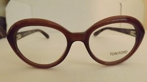 TOM FORD CATS TF 5251 050 Brown Frames Optical  Eyeglasses Size 51 17 140 BROWN