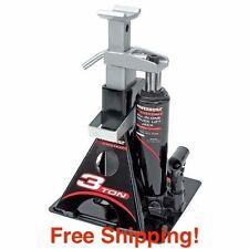 Bottle Jack Stand 3 Ton Hydraulic Heavy Lift Car Garage Auto Shop Floor + Bonus