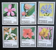 Congo (1996) Flowers / Nature / Hibiscus / Cornflower / Oleander - Mint (MNH)