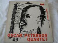 THE OSCAR PETERSON QUARTET VINYL LP ALBUM 1956 CLEF RECORDS OH LADY BE GOOD MONO