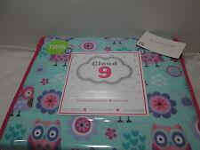 Cloud 9 OWL FLOWER HEART Twin Sheet Set ~ Pink, Teal, Lavender, Purple, White