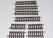 "8 Vintage Fleischmann Brass HO Track Short Straight sections GERMANY 2"" 4"" 1/2"