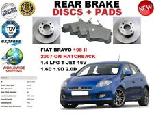 FOR FIAT BRAVO 198 II HATCHBACK 2007-ON REAR BRAKE DISCS SET + BRAKE PADS KIT
