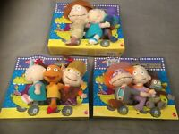 9 Nickelodeon Rugrats The Movie Plüsch-Figuren - Full Set 3 Packungen - Mattel