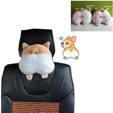 1pcs Plush Cotton Novelty Cute Soft Dog Buttocks Car Seat Neck Head Rest Pillow