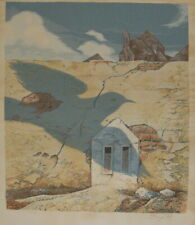 SAMUEL BAK – Dove & Surreal Landscape - Litho 75x55 cm Signed & Numbered