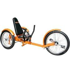 "TriTon 20"" 3 WHEEL Tricycle RECUMBENT Trike Bike Orange"