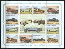 SAO TOME & PRINCIPE*1983*M/Sheet (4X3stampsX5)*MNH** Automobiles - Mi.856-859KB