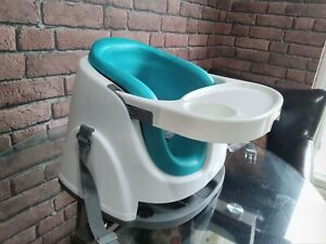Ingenuity Baby Base 2-in-1 booster seat travel high feeding chair - Peacock Blue