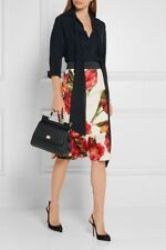 Dolce & Gabbana Fluted floral-print stretch-silk skirt Size I 36 UK 4 US 0 XXS