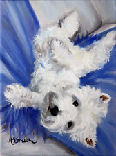 Mary Sparrow Westie west highland terrier PRINT dog portrait
