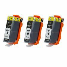 3 cartuchos de impresora Black para 364 XL Photosmart 5515 Deskjet 3070a 3520