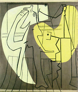 """Painter and His Model (1927) Signed Pablo Picasso - 17"""" x 22"""" Fine Art Print"""