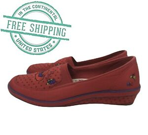 GRASSHOPPERS by KEDS RED HAT Society Slip On Embroidered Size 9M