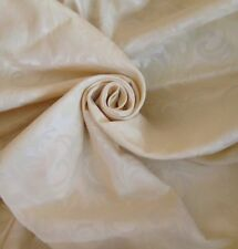 """40 Metri prestigioso CREMA JACQUARD BROCCATO 60 """"WIDE Curtain Fabric"""