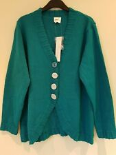 Being Casual ladies teal cardigan Size Large UK 16-18 New With Tags
