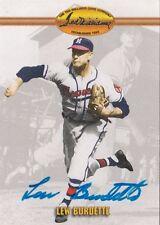 Lew Burdette Milwaukee Braves 1993 Ted Williams Autographed Baseball Card W/COA