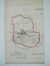 MAP c1830s BLACKBURN LITHOGRAPH by R Cartwright MAP ROBERT K DAWSON