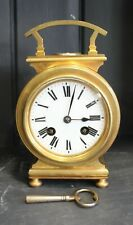 VERY UNUSUAL ANTIQUE FRENCH CARRIAGE CLOCK WITH COMPASS CIRCA 1880
