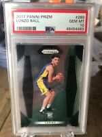 2017 Panini Prizm Lonzo Ball Rookie Card Gem Mint PSA 10 RC
