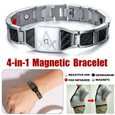 4 in1 Magnetic Bracelet Carbon Fiber Carpal Tunnel Arthritis Therapy Pain  CN