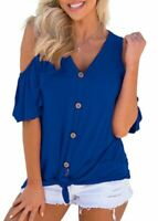 T-Shirt Loose New Fashion O Neck Jumper Blouse Solid Short Sleeve Top Womens