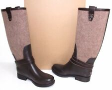 1003931 UGG Australia Women Korynne Wool Sheepskin Tall Rain Boots 6 Chocolate