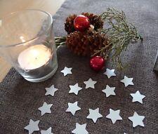 Streudeko Weihnachten Sterne silber Tischdeko Weihnachtsdeko basteln