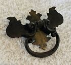 Antique Hardware Brass Colonial Drop Ring Cabinet drawer pull Chippendale Phyfe