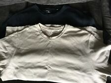 (2) Croft & Barrow Ribbed S/S T- Shirts- Black & Tan XXL Some Wear Free Shipping