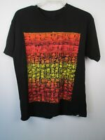VANS Mens L Short Sleeve T Shirt Black Multi Color