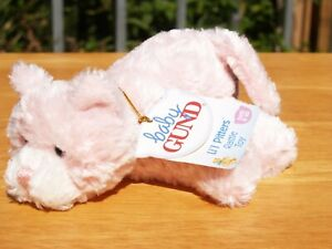 """BABY GUND- PINK LI'L PITTERS KITTY CAT- RATTLE TOY- #58108-5""""-BRAND NEW-ALL TAGS"""