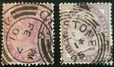 Duzik: Gb Qv Sg173/172 1d.deep purple and lilac used stamps (No909)*