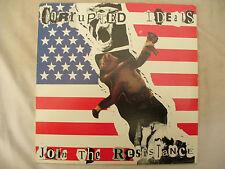 CORRUPTED IDEALS LP JOIN THE RESISTANCE n/m blue vinyl + insert