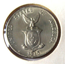 1945 S Philippines & USA 5 Five Centavos BU Coin Gr8 Starter 4 your collection