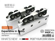 Sliding Frameless Galss Door Hardware Wheels Hangers Roller With 2.5 meter track