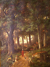 1883 Dutch Hendrik Pieter Koekkoek & Albert Roosenboom Oil Painting w Provenance