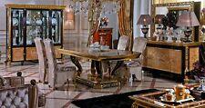 8 Stühle Set Esszimmer Designer Holz Stuhl Garnitur Antik Stil Barock Rokoko E61