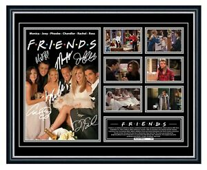 FRIENDS CAST - TV SERIES ANISTON SIGNED LIMITED EDITION FRAMED MEMORABILIA