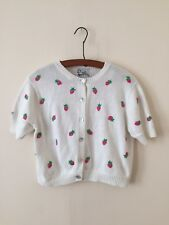 Vintage Lilly Pulitzer Cropped Strawberry Sweater Size Small